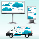 Template outdoor advertising or corporate identity on the car, billboard and citylight. Stock Image