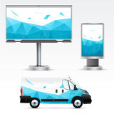 Template outdoor advertising or corporate identity Stock Photography