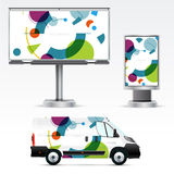Template outdoor advertising or corporate identity Royalty Free Stock Photo