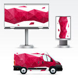 Template outdoor advertising or corporate identity Royalty Free Stock Photos