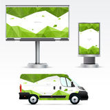 Template outdoor advertising or corporate identity Royalty Free Stock Images