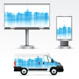 Template outdoor advertising or corporate identity Stock Photos