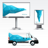 Template outdoor advertising or corporate identity Stock Images