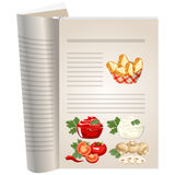 Template pages of a cookbook Royalty Free Stock Image