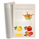 Template pages of a cookbook Stock Photo