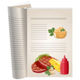 Template pages of a cookbook Stock Photos