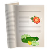Template pages of a cookbook Royalty Free Stock Photo