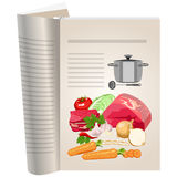 Template pages of a cookbook Royalty Free Stock Photography