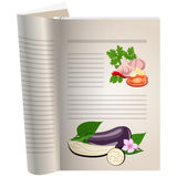 Template pages of a cookbook Stock Image