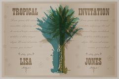 Template with palm trees Royalty Free Stock Image