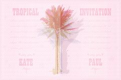 Template with palm trees Royalty Free Stock Photography