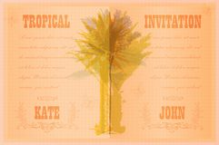 Template with palm trees Stock Images