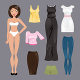 Template paper doll. Vector illustration Royalty Free Stock Photography
