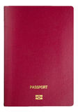 Template passport cover - clipping path Royalty Free Stock Image