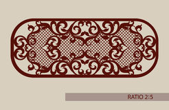 The template pattern for laser cutting decorative panel Stock Image