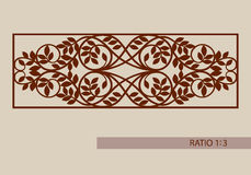 The template pattern for laser cutting decorative panel Stock Photography