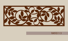 The template pattern for laser cutting decorative panel Stock Photos