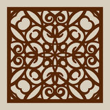 The template pattern for laser cutting decorative panel Royalty Free Stock Photos