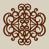 The template pattern for laser cutting decorative panel Royalty Free Stock Photography