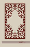 The template pattern for laser cutting decorative panel Stock Photo