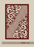 The template pattern for laser cutting decorative panel Royalty Free Stock Image