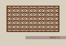 The template pattern for laser cutting decorative panel. Geometric ornament. The template pattern for decorative panel. A picture suitable for printing royalty free illustration