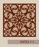 The template pattern for laser cutting decorative panel Royalty Free Stock Images