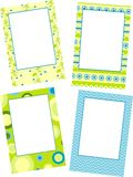 Template photo floral frames Royalty Free Stock Images
