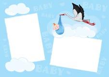 Template - photo frame. Vector illustration -- Template, photo frame for baby (boy royalty free illustration