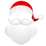 Template for photo mustache with a beard and  cap of Santa Clau Royalty Free Stock Photography