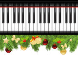 Template with piano keyboard Royalty Free Stock Images