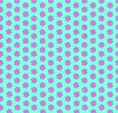 Template with pink seamless pattern of animal footprints on ligh Royalty Free Stock Photography