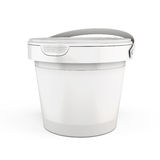Template plastic buckets on a white. 3d. Template plastic buckets  isolated on white background. 3d render image Stock Image