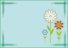 Template postcard. Flowers. Royalty Free Stock Photography