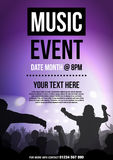 Template For Poster Advertising Music Event Royalty Free Stock Images