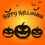 Template for poster of Happy Halloween, pumpkin Stock Photos