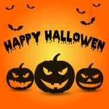 Template for poster of Happy Halloween, pumpkin Stock Image