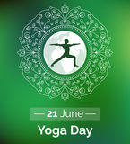 Template of poster for International Yoga Day. Stock Photography
