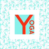 Template of poster for International Yoga Day. Royalty Free Stock Image