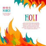 Template poster, postcard or invitation with. Multicolored abstraction. Holi celebrations. Colorful fire spray. Vector Stock Images