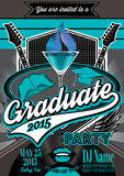 Template for the posters to graduate party Royalty Free Stock Photos