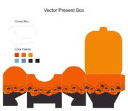 Template for present box. With flowers Royalty Free Illustration