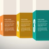 Template for presentation. Infographics design. Vector Royalty Free Stock Photo