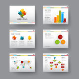 Template for presentation slides Royalty Free Stock Images