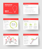 Template for presentation slides Stock Photography