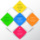 Template for presentation. Square template for diagram, graph, presentation and chart with 4 options, parts, steps or processes. Vector infographic