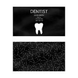 Template professional business cards black for printing in the printing industry isolated on white background. Family doctor, dent. Istry, prevention and dental Royalty Free Stock Images