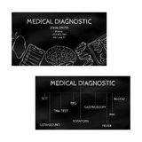 Template professional business cards black for printing in the printing industry isolated on white background. Medical laboratory, Royalty Free Stock Photography