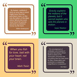 Template of quote design. Royalty Free Stock Photography