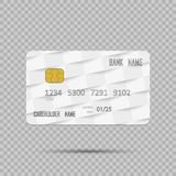 Template realistic Credit card on transpatent background with shadow. Vector illustration. Template realistic Credit card on transpatent background with shadow Stock Photos